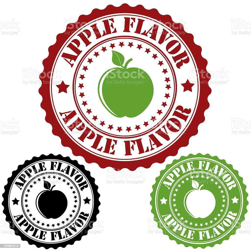 Apple flavor stamp royalty-free stock vector art