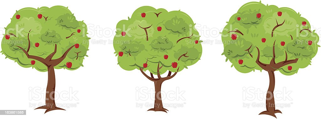 Apple Trees royalty-free stock vector art