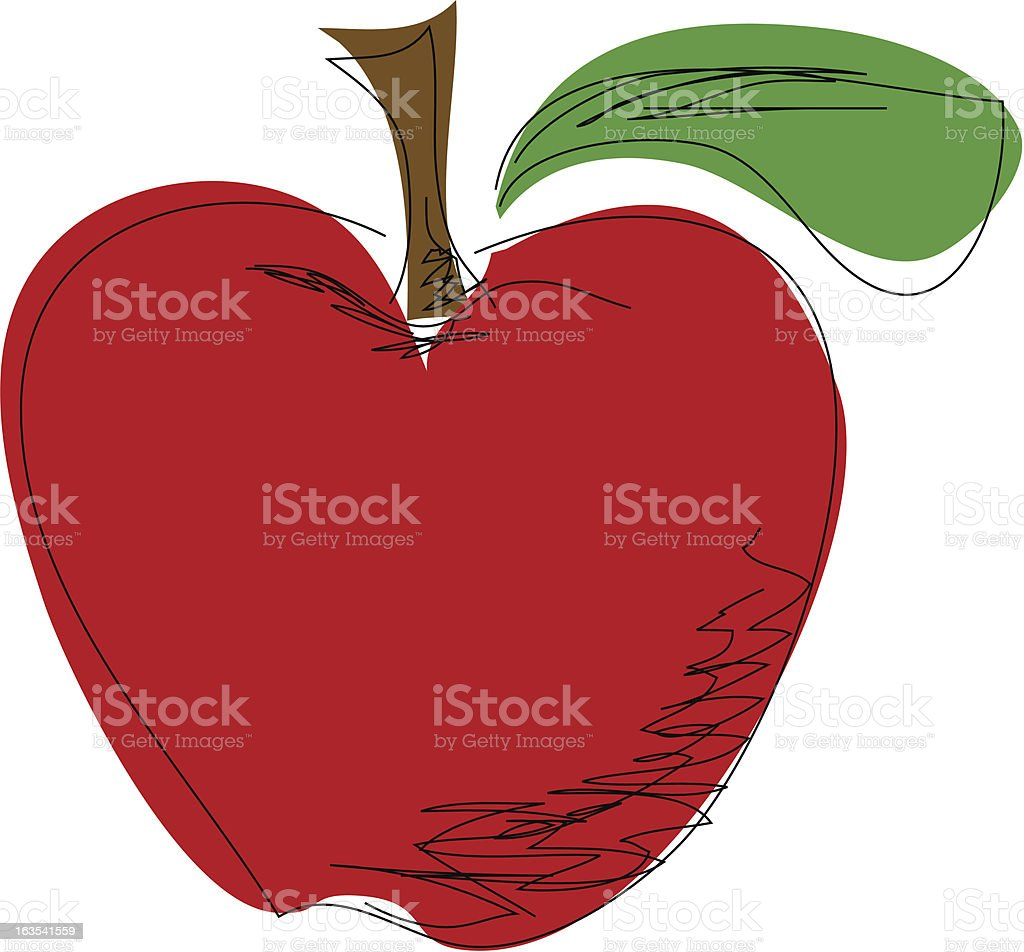 Apple - Vector Scribble Style royalty-free stock vector art