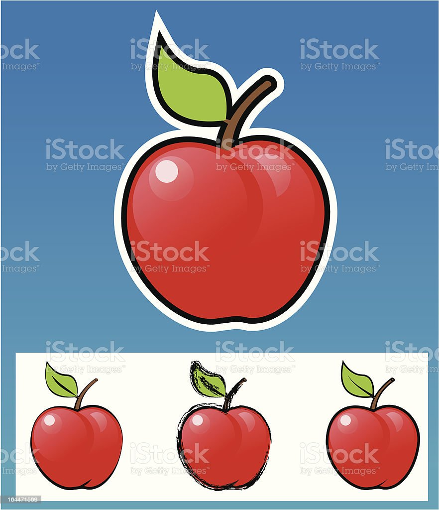 Apple-Various style. royalty-free stock vector art