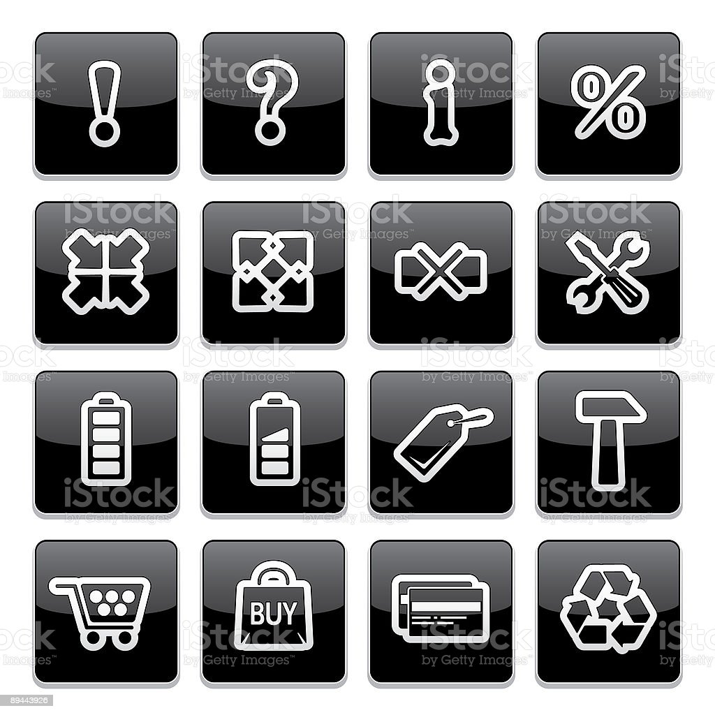 Application toolbar icons | Strict thick series royalty-free stock vector art