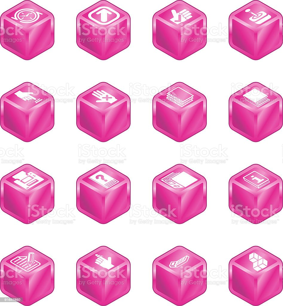 Applications Cube Icon Series Set royalty-free stock vector art