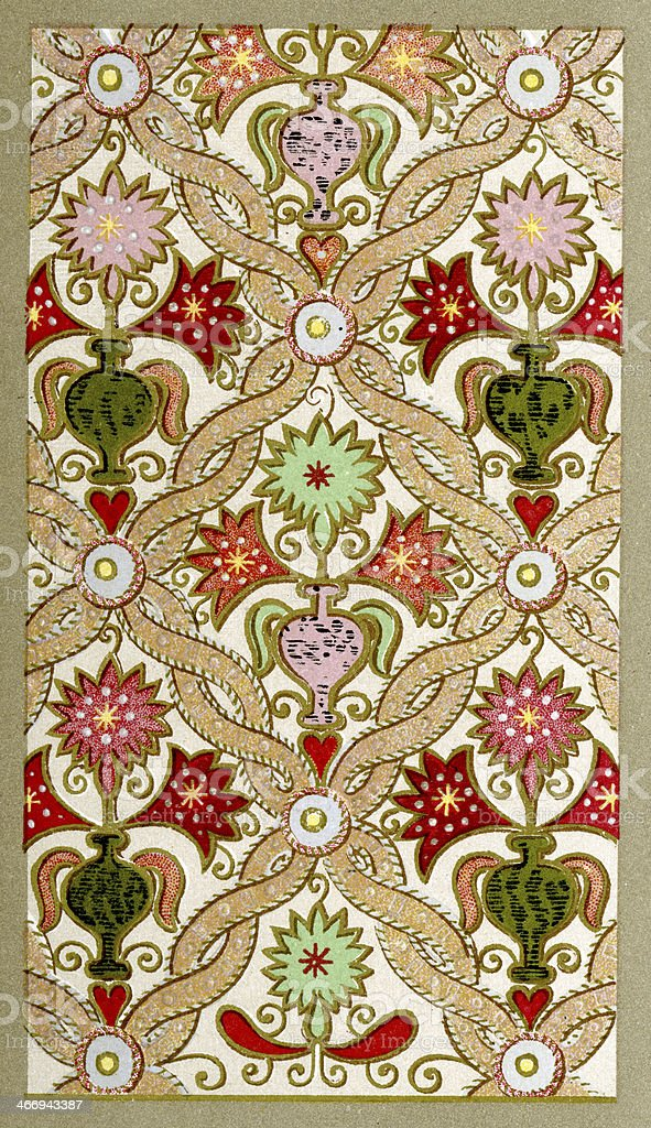 Applique Embroidery Pattern 16th Century Stock Vector Art More