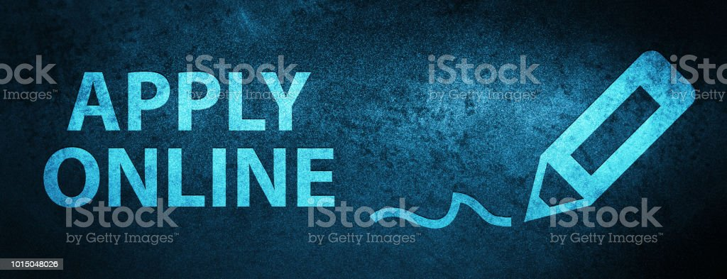 Apply Online Special Blue Banner Background Stock