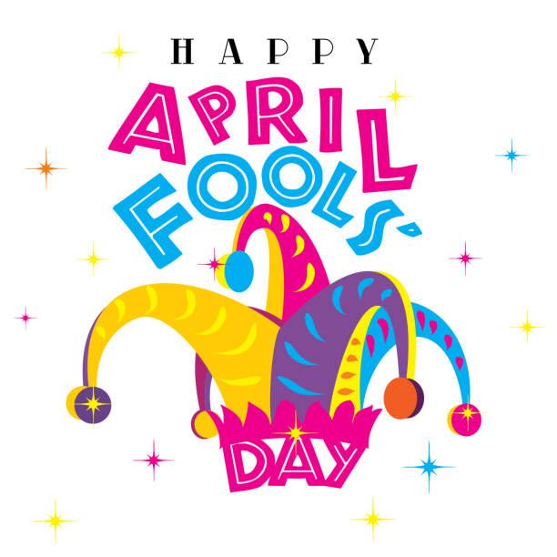 April Fools' Day vector art illustration