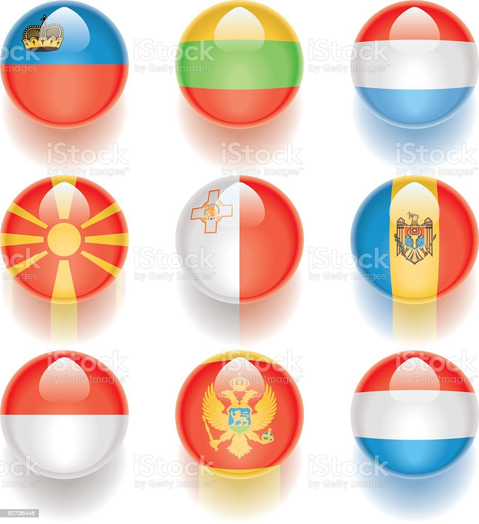Aqua Flags – Europa 05 Lizenzfreies aqua flags europa 05 stock vektor art und mehr bilder von biegung