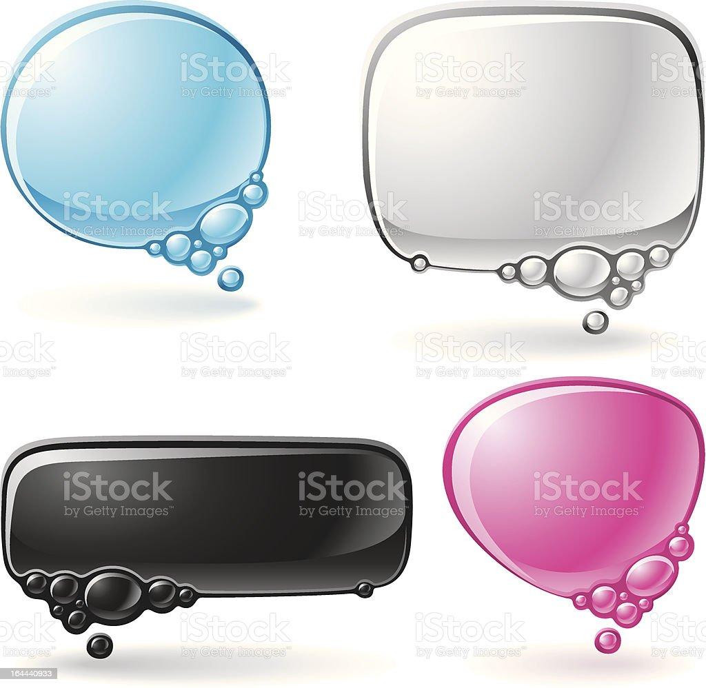 Aqua speech bubble set royalty-free stock vector art