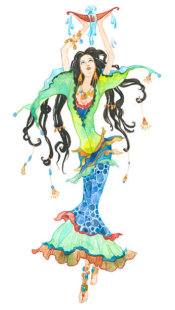Aquarius. Astrology Sign. vector art illustration