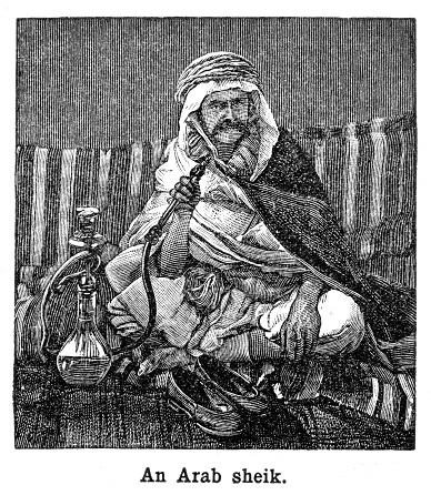 Arab sheik engraving 1897
