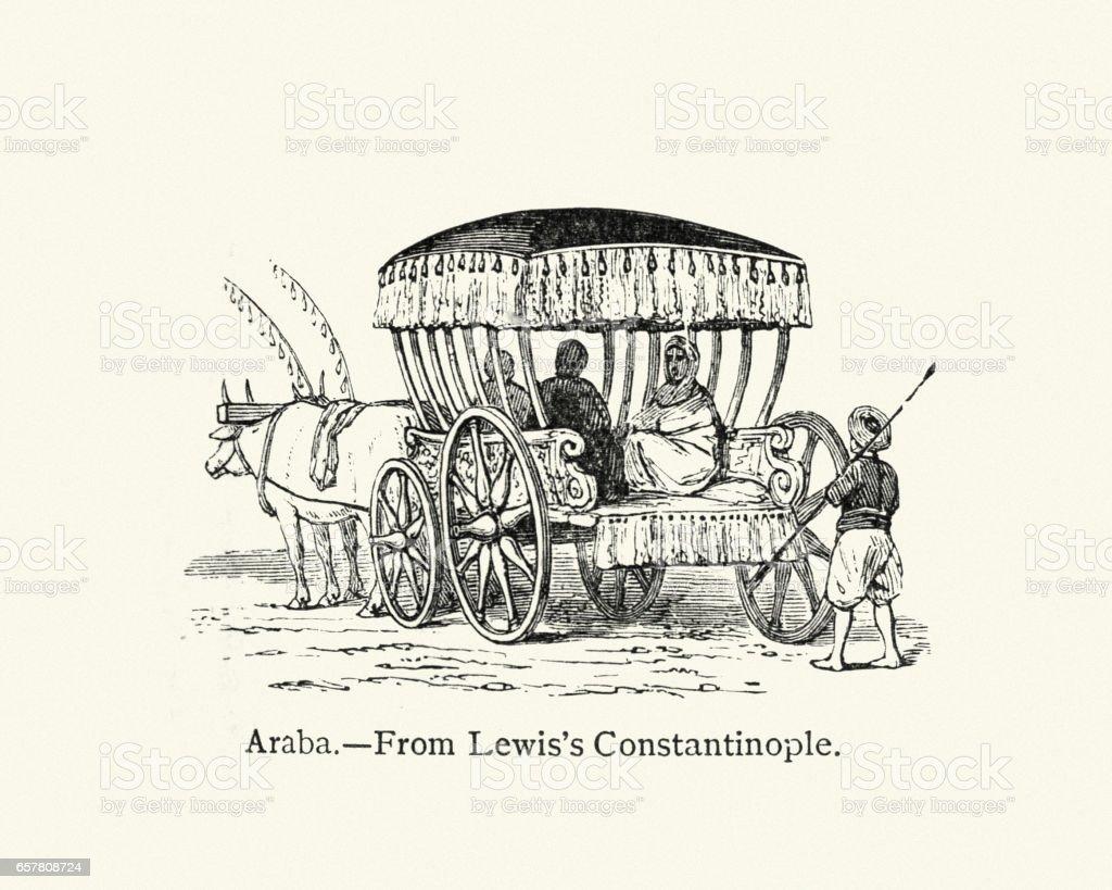 Araba (carriage) vector art illustration