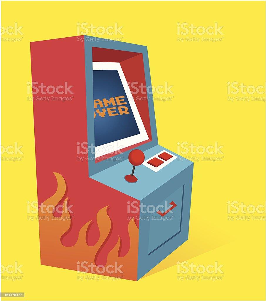 Arcade game Machine vector art illustration