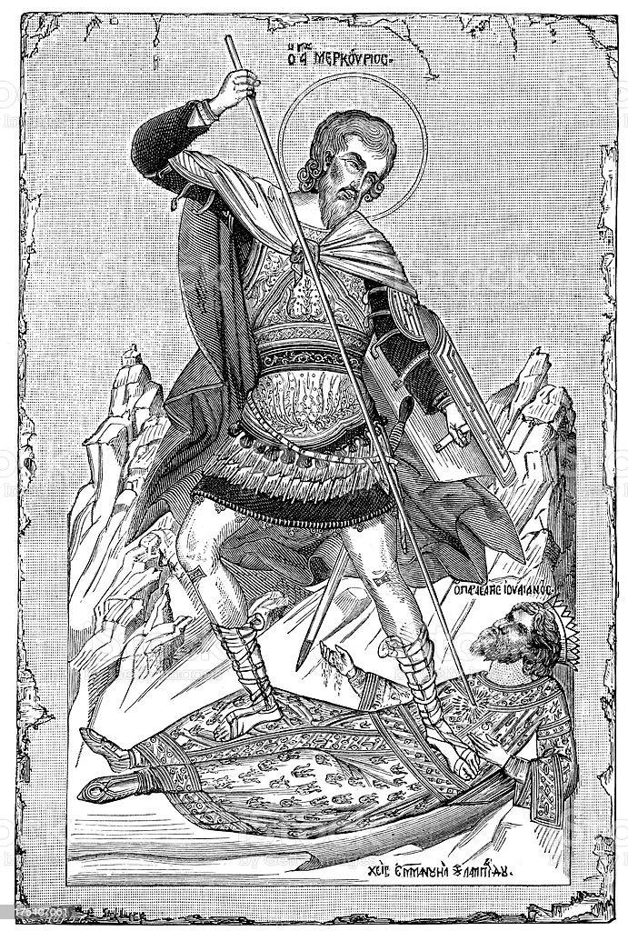 Archangel Michael royalty-free stock vector art