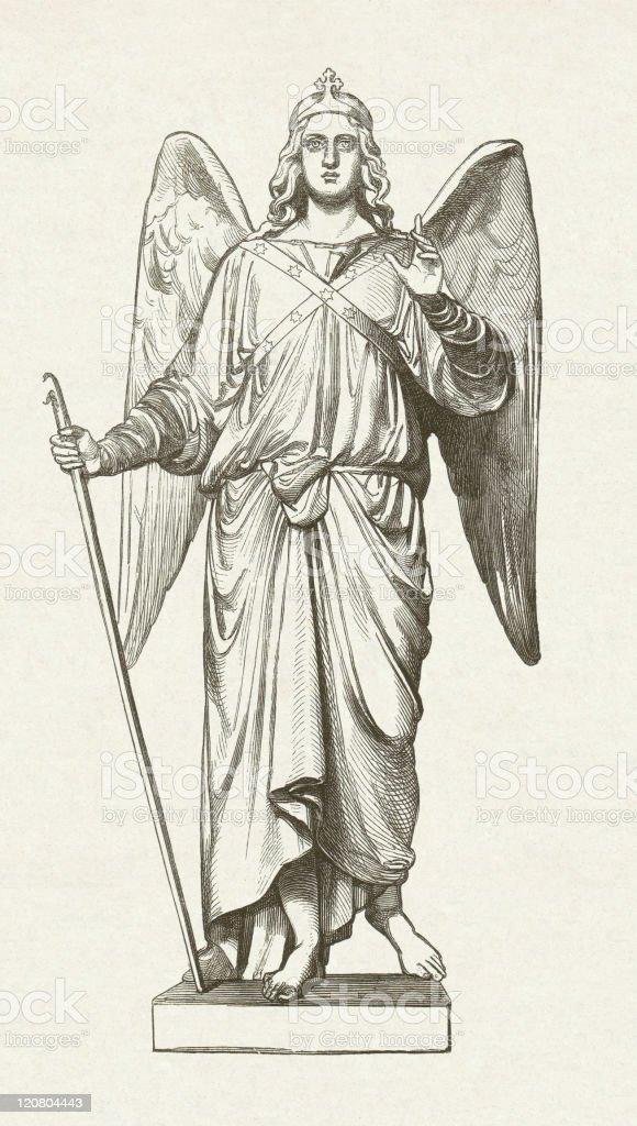 Arcángel Raphael - ilustración de arte vectorial