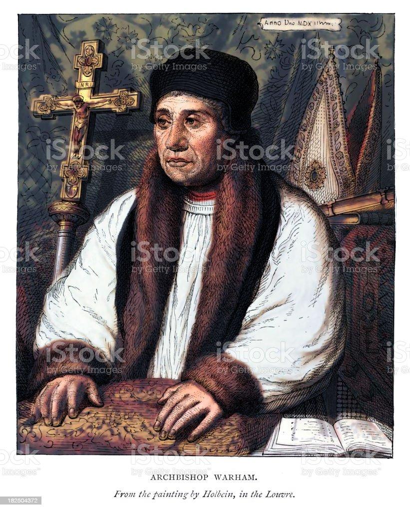 Archbishop of Canterbury William Warham vector art illustration
