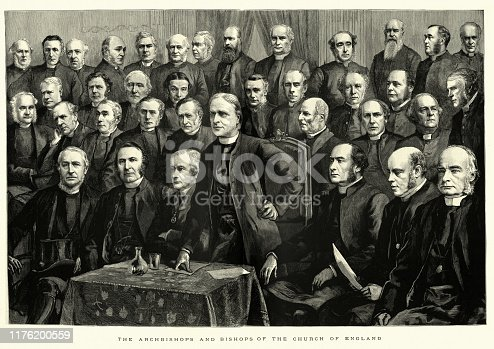 istock Archbishops and Bishops of Church of England, 1886, 19th Century 1176200559