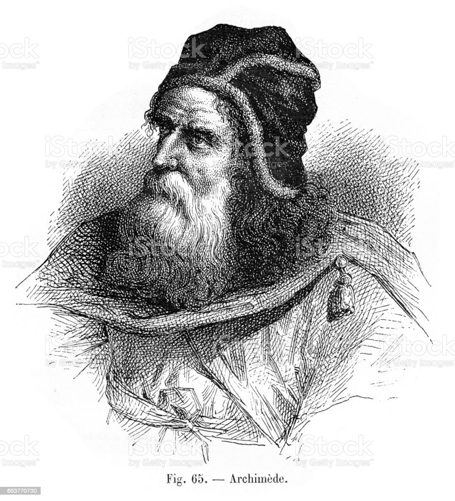 Archimedes engraving 1881 - Illustration vectorielle