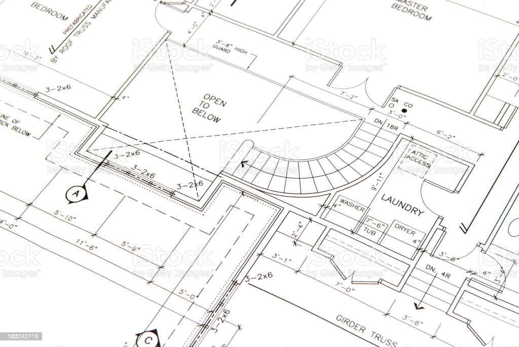 architectural drawing 5 vector art illustration