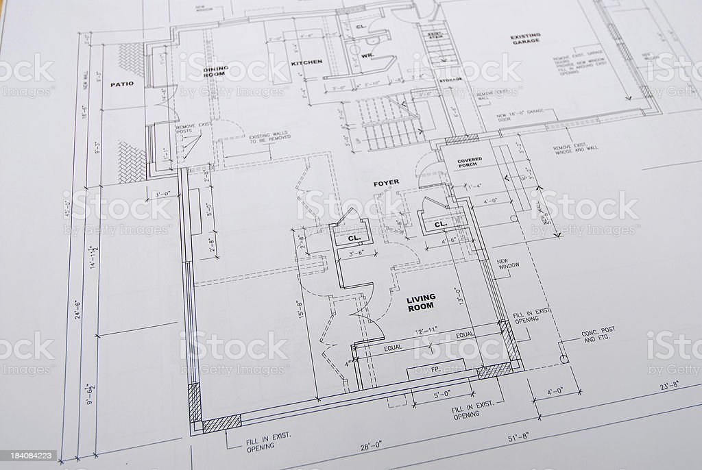 architectural drawings 23 vector art illustration