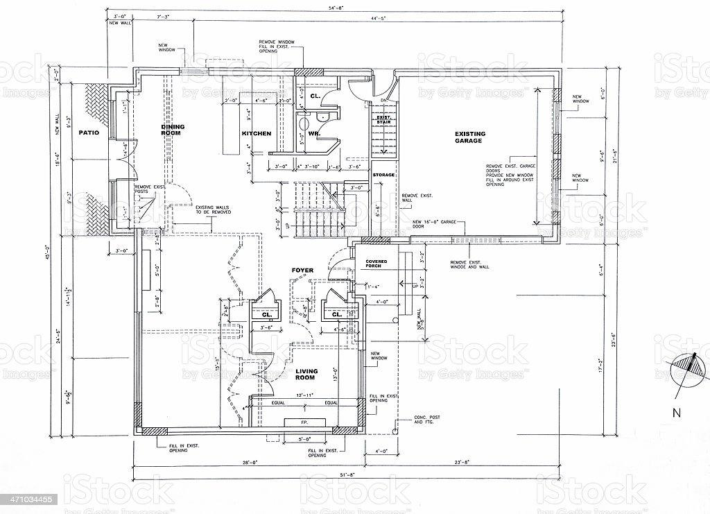 Architektonische Zeichnungen 50 – Vektorgrafik