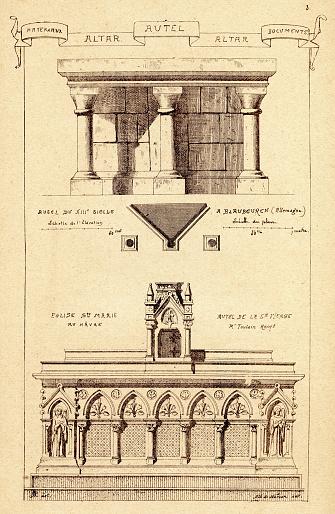 Architecture, Altars, 19th Century architectural feature, Art print