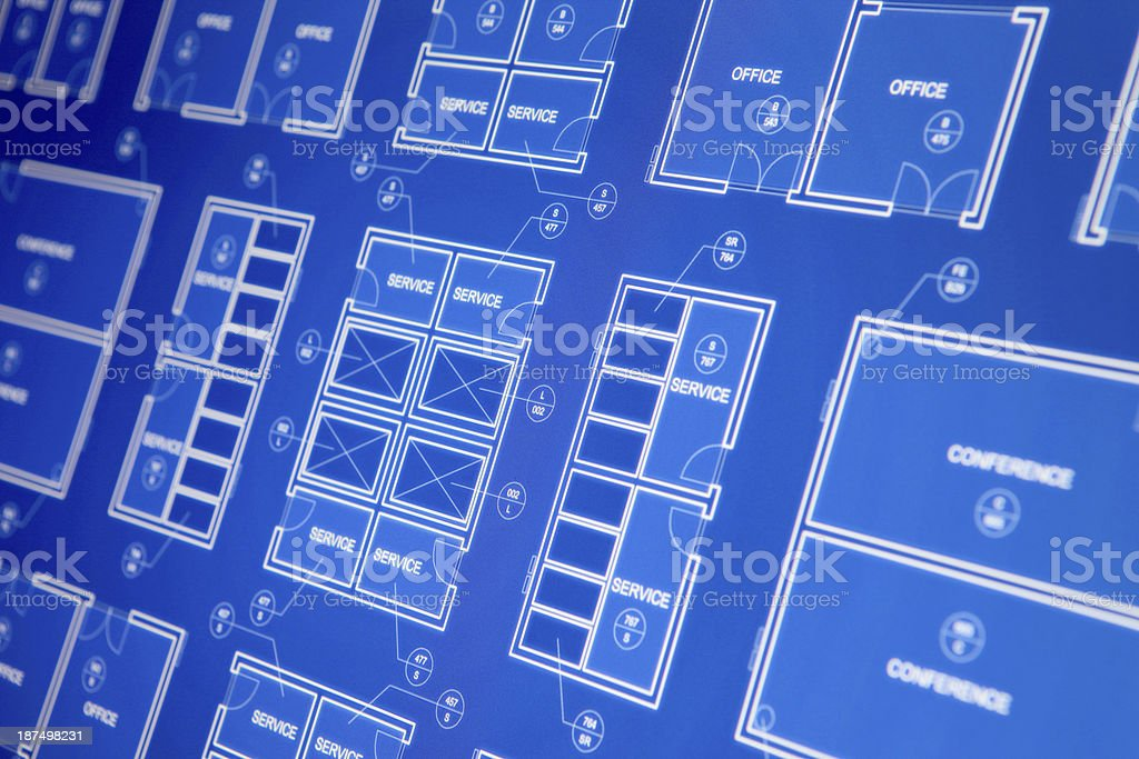Architecture blueprint on computer display stock vector art more architecture blueprint on computer display royalty free architecture blueprint on computer display stock vector art malvernweather Images