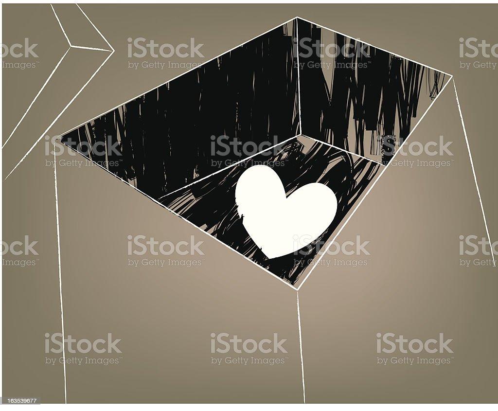 archived heart vector art illustration