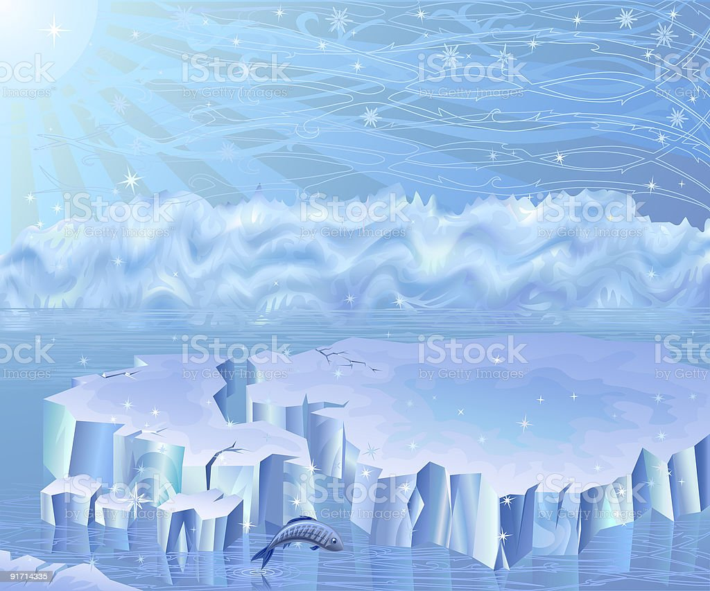 Arctic landscape royalty-free stock vector art