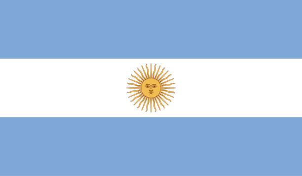 argentina flag - argentina flag stock illustrations, clip art, cartoons, & icons