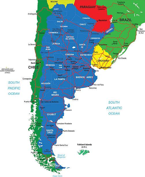Tierra Del Fuego Archipelago Clip Art Vector Images - Argentina map tierra del fuego