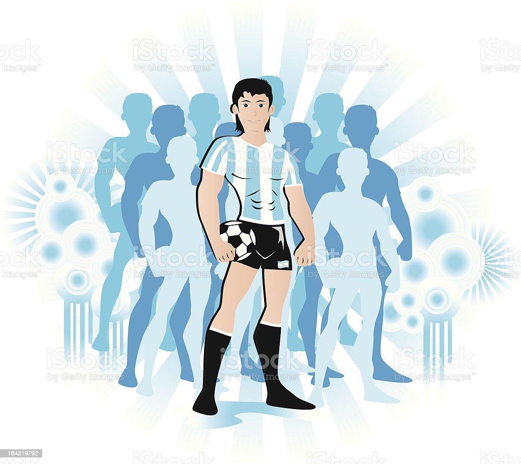 Argentina jugador de fútbol - ilustración de arte vectorial