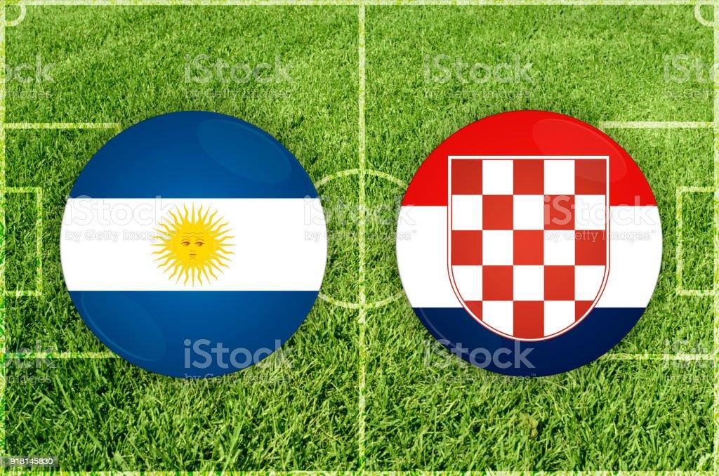 Partido de fútbol Argentina vs Croacia - ilustración de arte vectorial