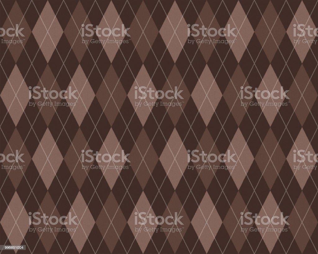 Argyle seamless pattern vector art illustration