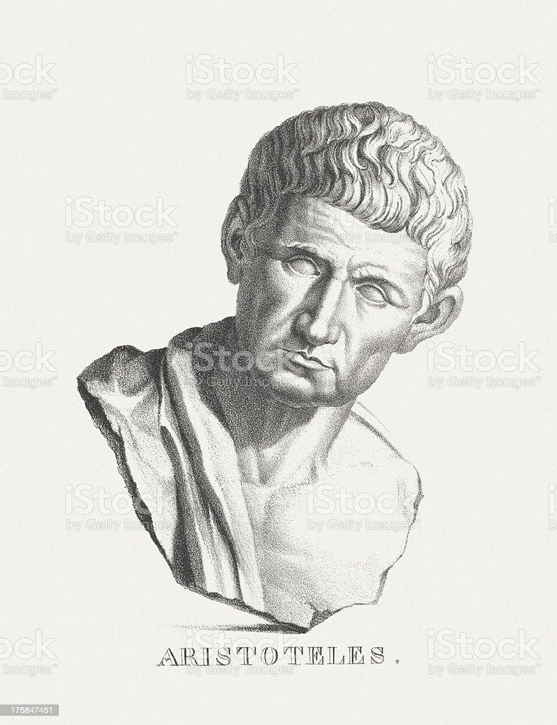 Aristotele (384 BC - 322 BC) vector art illustration