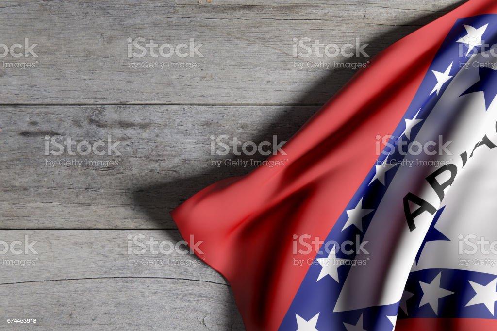 Bandeira do estado de Arkansas - ilustração de arte em vetor