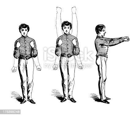 istock Arm exercises   Antique Sports Illustrations 175399248