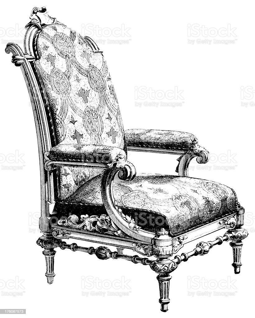 Armchair | Antique Design Illustrations royalty-free stock vector art