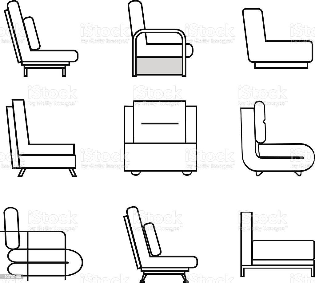 armchair - Royalty-free Apartment stock vector