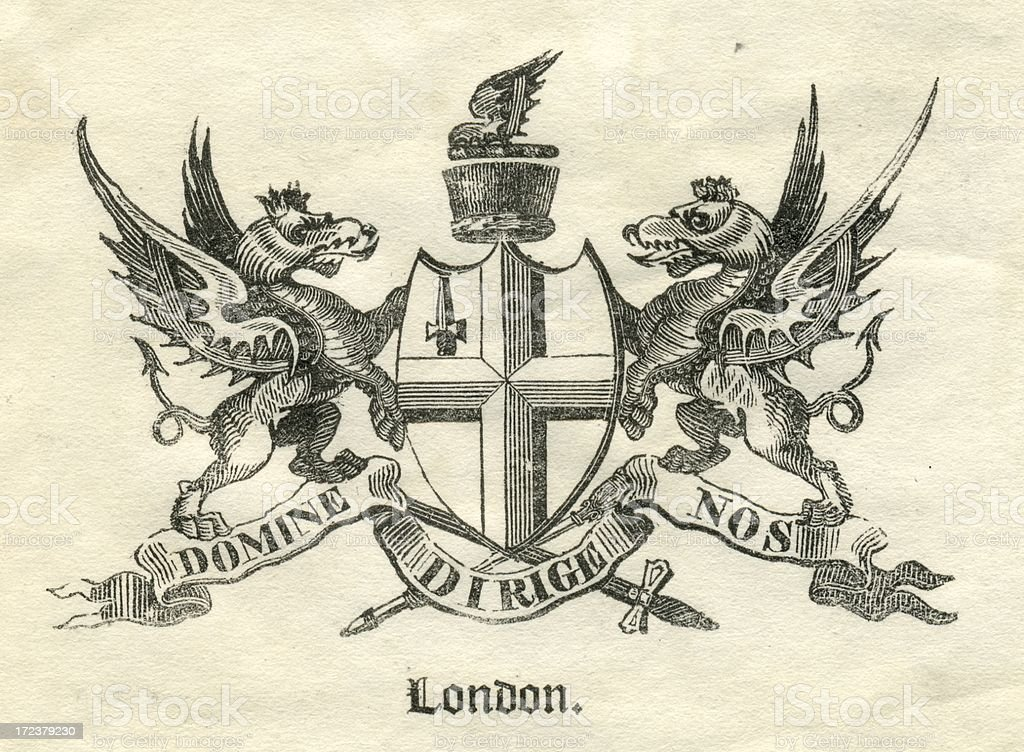 Armorial City of London 19th century royalty-free stock vector art
