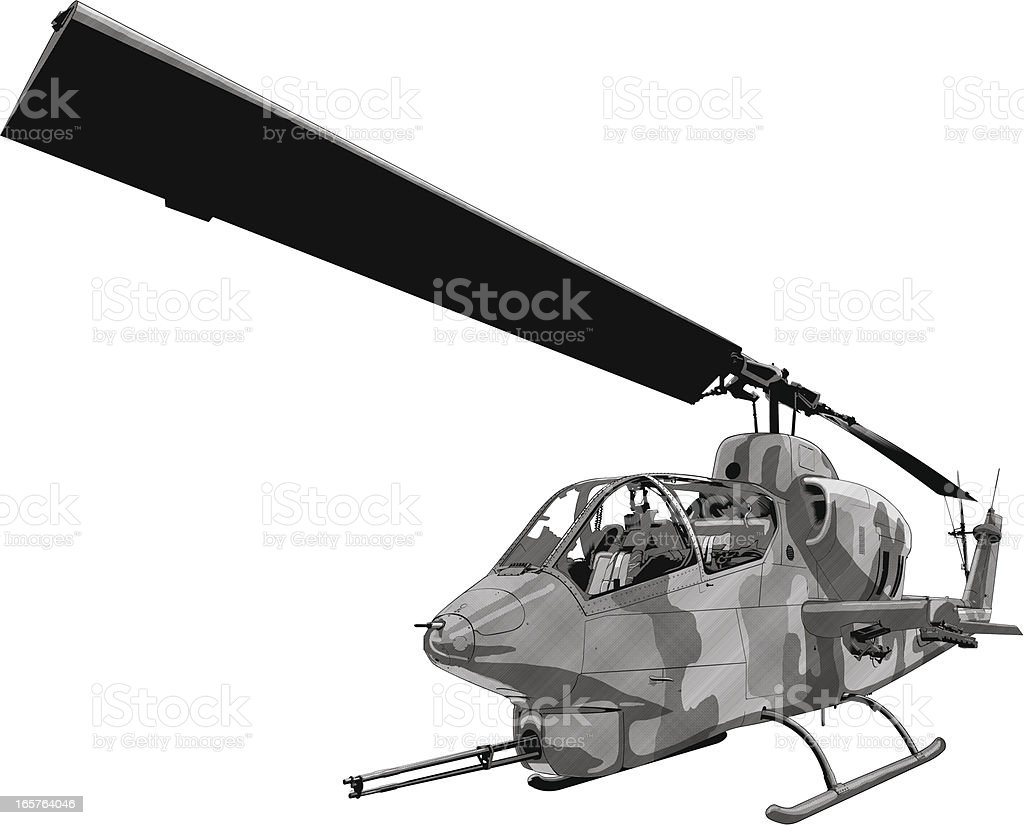 Army helicopter illustration vector art illustration