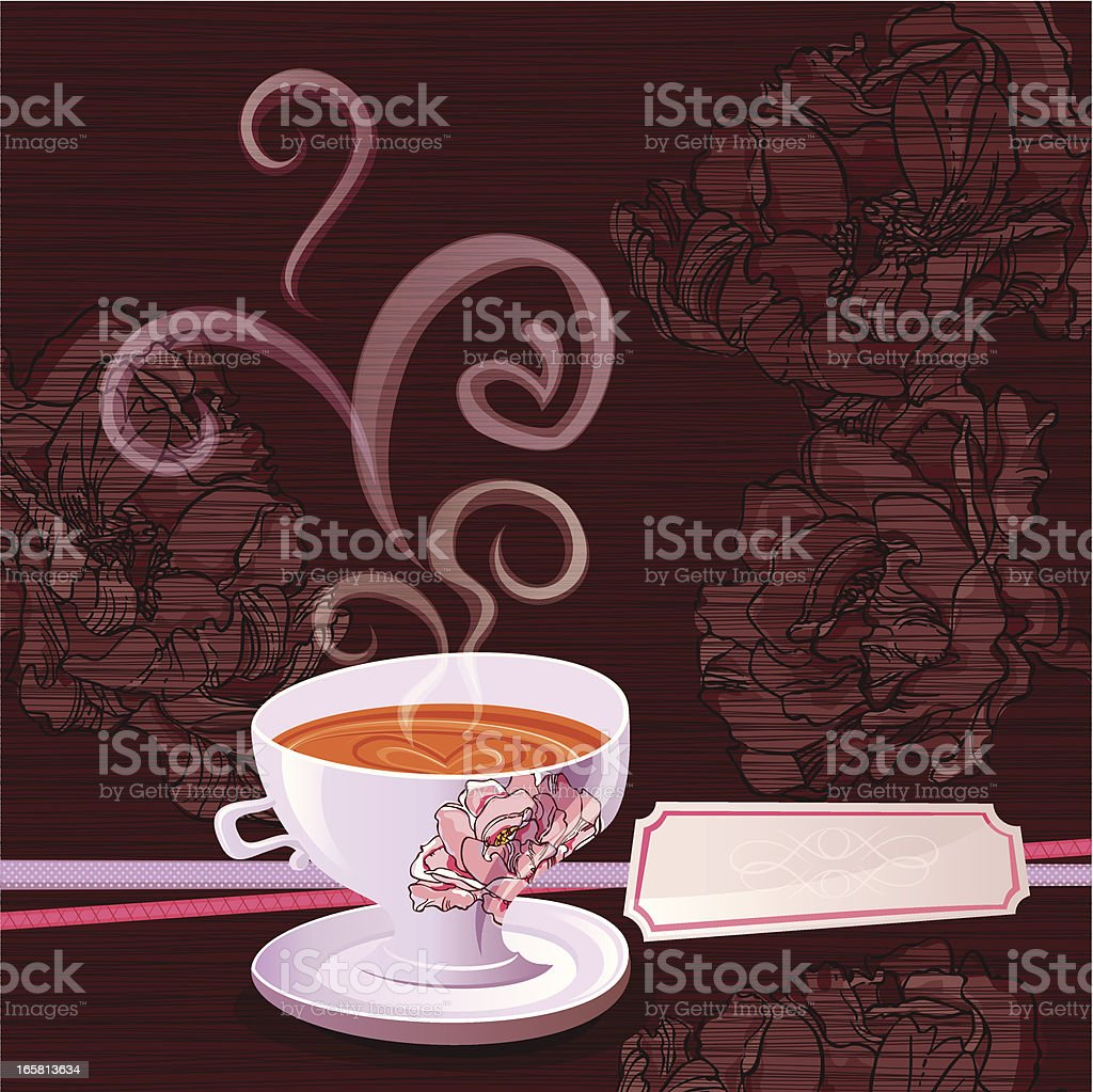 Aroma Coffee Cup for You! vector art illustration