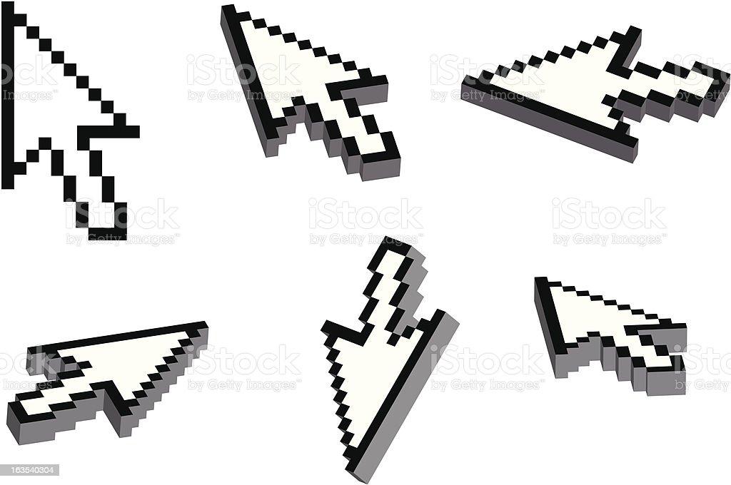 3D arrow cursor royalty-free stock vector art