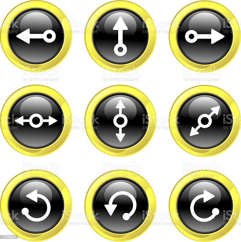 Arrow Icons royalty-free stock vector art