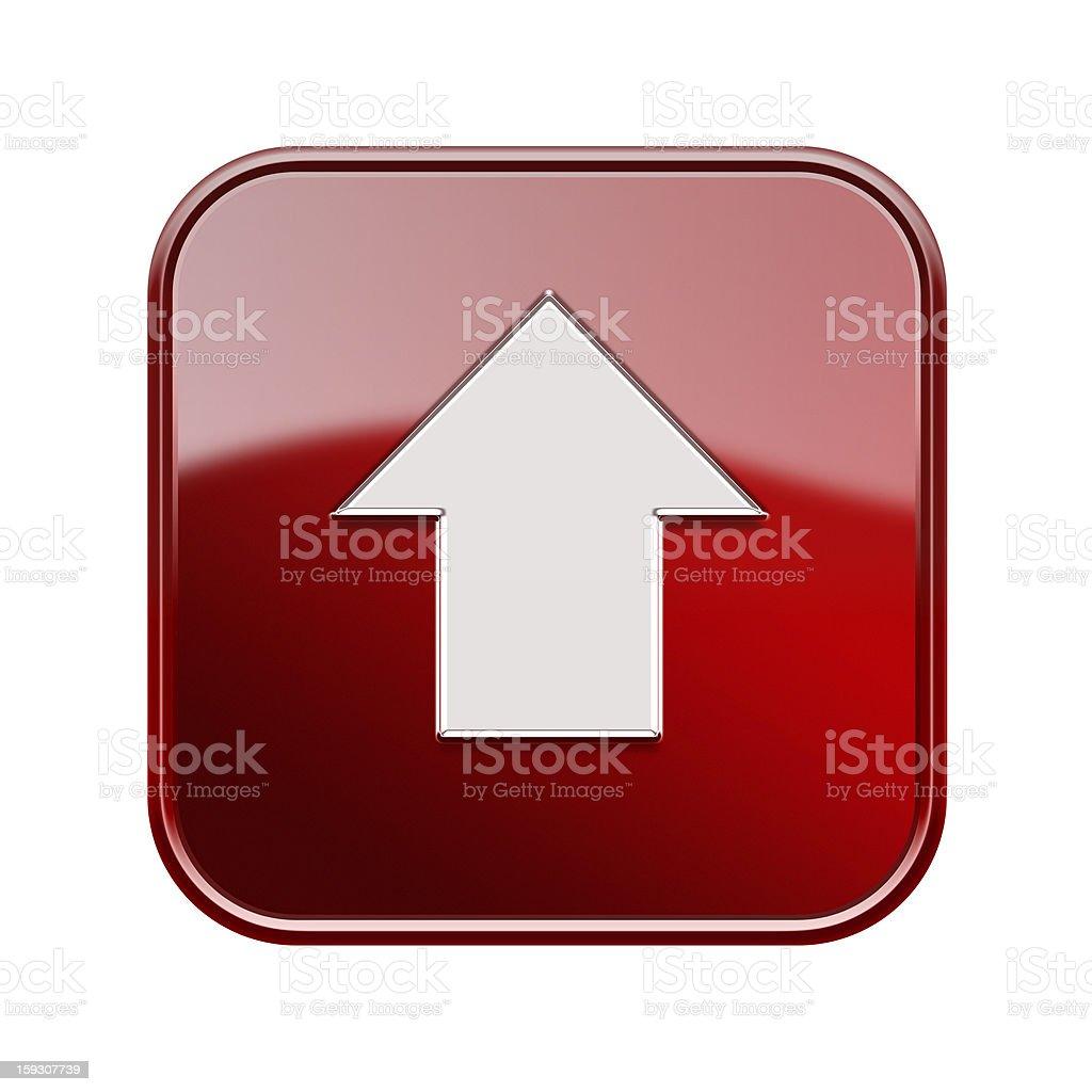 Pfeil Bis Symbol Glänzenden Roten Isoliert Auf Weißem Hintergrund ...