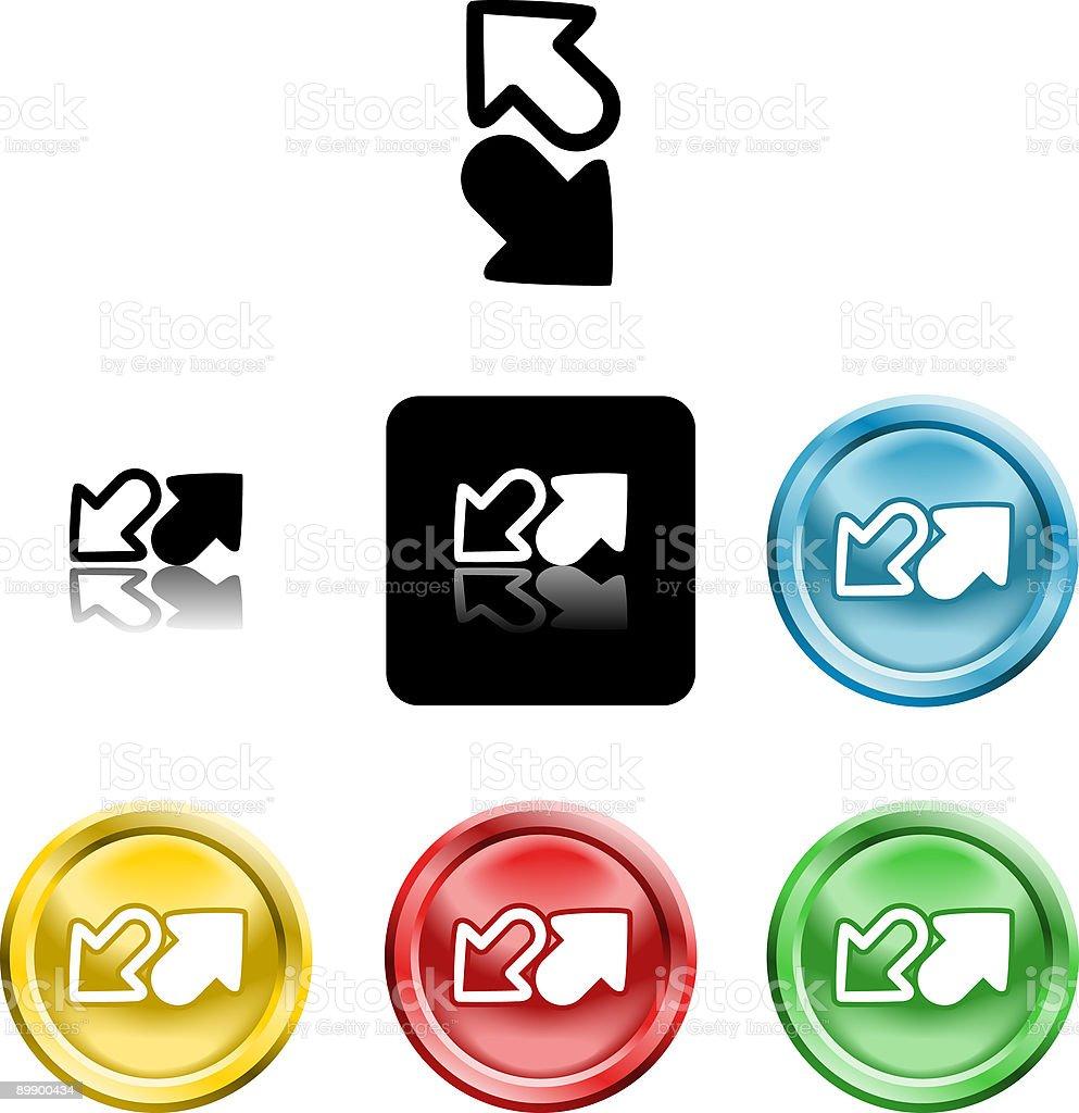 Flechas icono símbolo ilustración de flechas icono símbolo y más banco de imágenes de amarillo - color libre de derechos