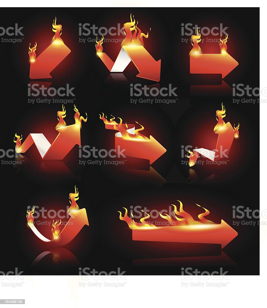 Arrows on Fire royalty-free stock vector art