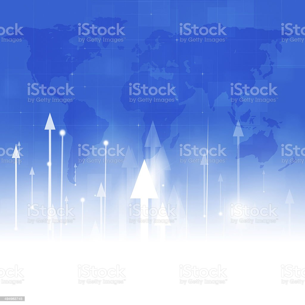 Arrows Up Abstract Business Background royalty-free stock vector art