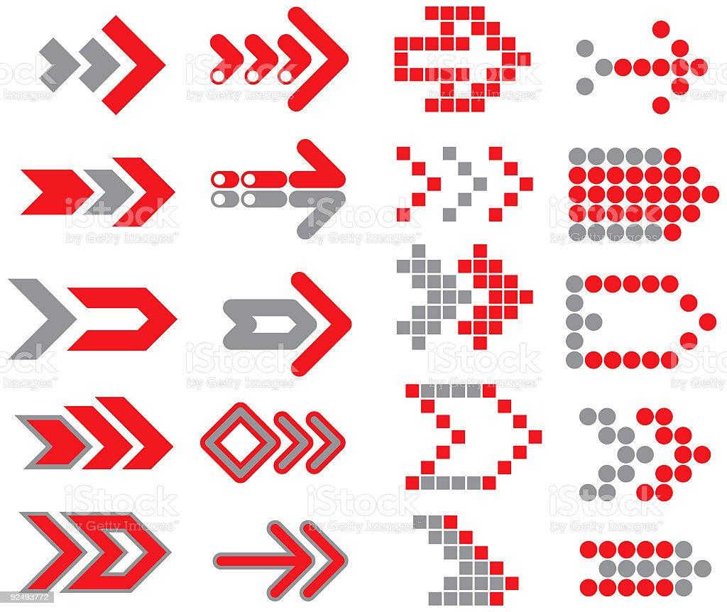 Arrows [vector] royalty-free arrows vector stock vector art & more images of accessibility