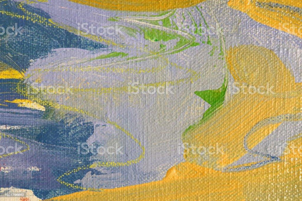 Art abstract background. Acrylic on canvas. Splashing brushstrokes of...