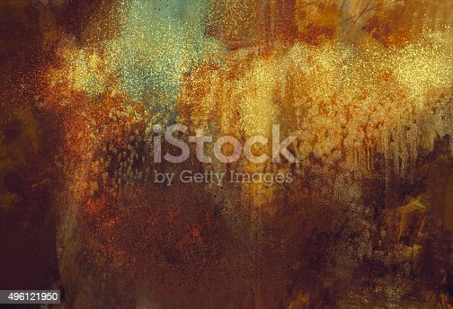 Abstract Art Mixed Media Grunge Stock Photo: Art Abstract Grunge Background With Rusted Metal Color