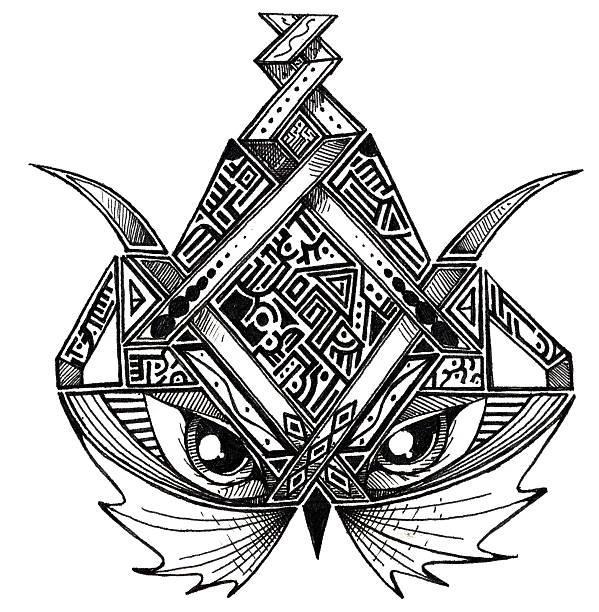 Art - Abstract Owl vector art illustration